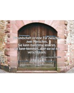 """Postkarte Tür  """"Freundschaft..."""""""