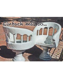 "Postkarte weiße Stühle ""einfach mal so..."