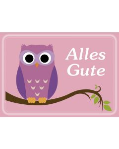 "Postkarte Eule ""Alles Gute"""