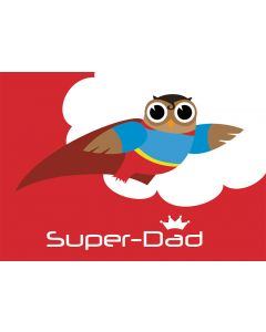 Postkarte Superman - Eule Super-Dad