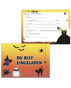 Einladungskarten Spider-Eulen / Halloween