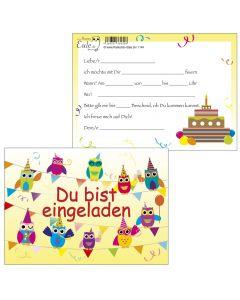 Einladungskarten Feier-Biest Eulen