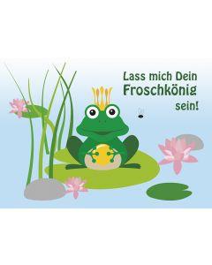 """Postkarte netter Frosch """"Lass mich Dein Froschkönig sein!"""""""