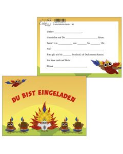 Einladungskarten tanzende Eulen