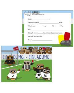 Einladungskarten Fußball Eulen