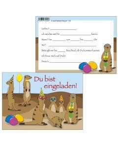 Einladungskarten witzige Erdmännchen