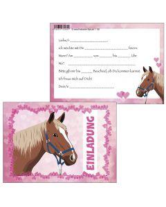 Einladungskarten süße Pferde-Party