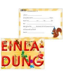 Einladungskarten - lustige Tierwelt