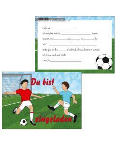 Einladungskarte zwei Fußballspieler