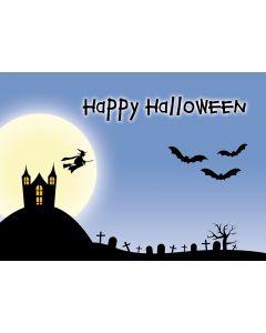 """Postkarte """"Happy Halloween"""" im Geisterschloß"""