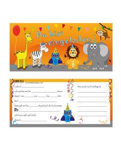 Einladungskarten buten Tierwelt