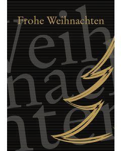 Postkarte goldener Christbaum - Frohe Weihnachten