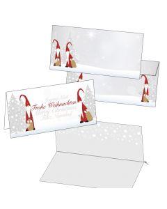 Klappkarten Weihnachtswichtel  mit Einlegeblättern