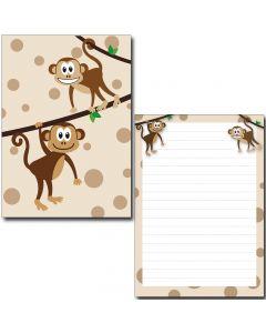 Schreibblock zwei nette Affen DIN A5