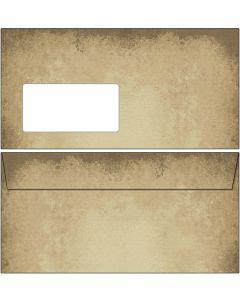 Briefumschläge altes Papier DIN lang mit Fenster
