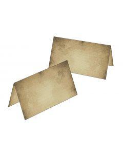 Tischkarten Motiv altes Papier
