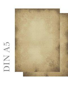 Motivpapier altes Papier beidseitig bedruckt Format DIN A5