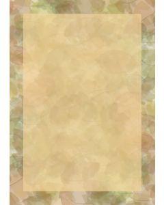 Briefpapier Herbst Blätter Collage mit Rahmen