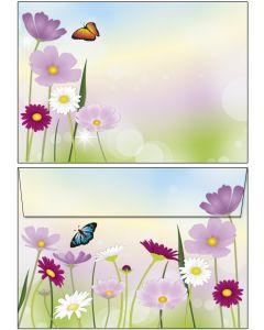 Briefumschläge C6 - schöne Blumenwiese
