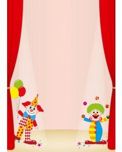 Briefpapier zwei Clowns