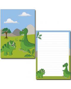 Schreibblock nette Dinosaurier DIN A5