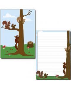 Schreibblock nette Eichhörnchen DIN A5
