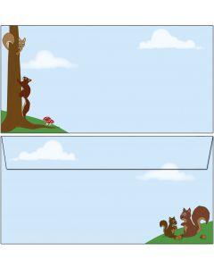 Briefumschläge nette Eichhörnchen