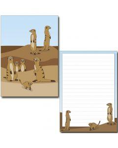 Schreibblock Erdmännchen DIN A5