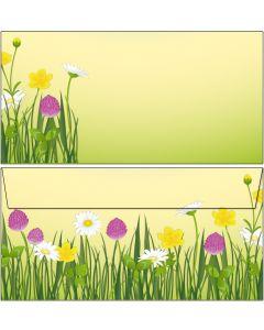 Briefumschläge DIN lang schöne Blumenwiese