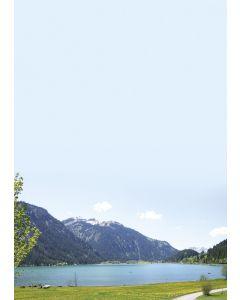 Briefpapier Frühling in den Bergen