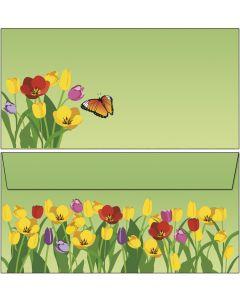 Briefumschläge bunte Tulpenwiese