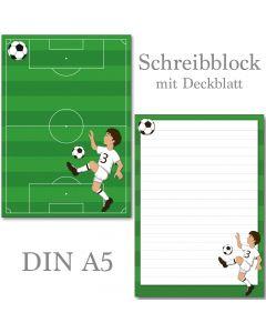 Schreibblock Fußballer DIN A5