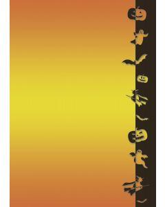 20 Blatt Motivpapier Halloween Geister - Hexen - Fledermäuse