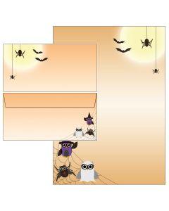 Spider-Eulen 40-teilig - 20 Blatt Briefpapier und 20 Umschläge inkl. Mappe