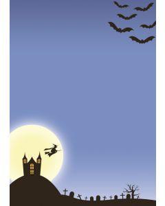 Briefpapier Halloween im Geisterschloß