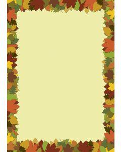 Briefpapier buntes Herbstlaub