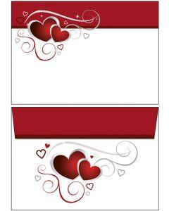 Briefumschläge C6  - rote Herzen