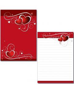 Schreibblock - rote Herzen A5