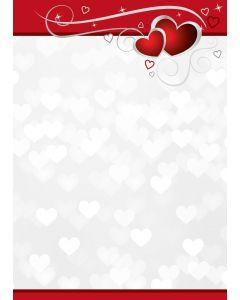 Notizblock rote Herzen A6