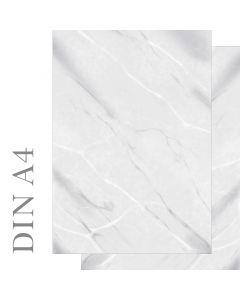 Briefpapier Marmor grau / weiß  beidseitig bedruckt