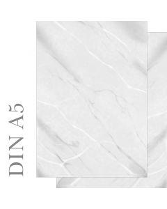 Briefpapier Marmor grau / weiß beidseitig bedruckt  DIN A5