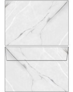 Briefumschläge Marmor schwarz / weiß / grau DIN C6