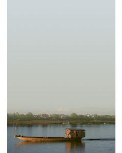 Briefpapier Abendstimmung am Mekong