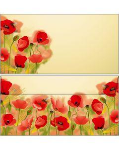 Briefumschläge Mohnblumen