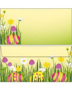 Briefumschläge DIN lang Ostereier in bunter Blumenwiese
