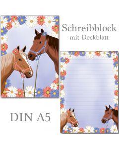 Schreibblock zwei Pferde A5