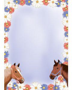 Briefpapier zwei Pferde