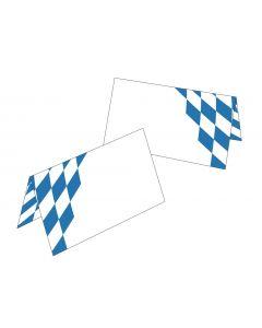 Tischkarten Motiv Bayern-Raute