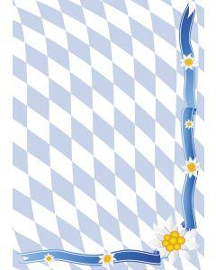 Briefpapier Bayern Raute + Edelweiss