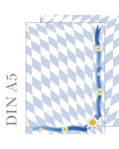 Briefpapier Bayern Raute + Edelweiß DIN A5